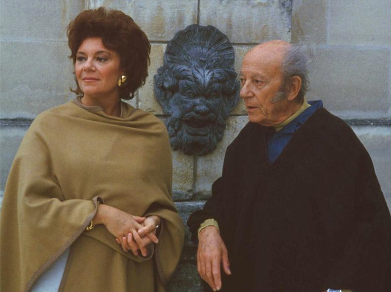 Philippine et son père le baron Philippe de Rothschild