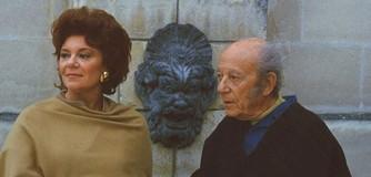 Philippine de Rothschild et son père le baron Philippe de Rothschild